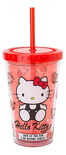 Hello Kitty Tumblers with Straw