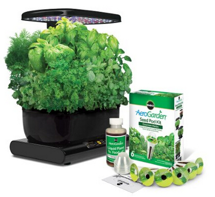 Miracle-Gro AeroGarden Harvest with Gourmet Herb Seed Pod Kit,Black
