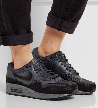 Nike   Air Max 1 textured-leather, nubuck and mesh sneakers   NET-A-PORTER.COM