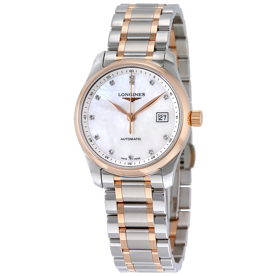 Longines Master Collection Mother of Pearl Dial Two-tone Ladies Watch L22575897 - Master Collection - Longines - Shop Watches by Brand - Jomashop