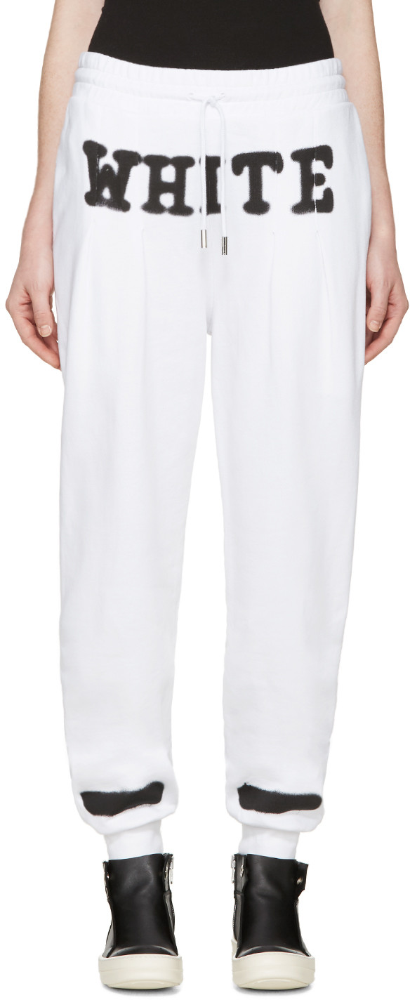 Off-White White Spray Paint Lounge Pants