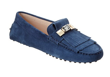 TOD's Gommino Embellished Suede Driving Shoe