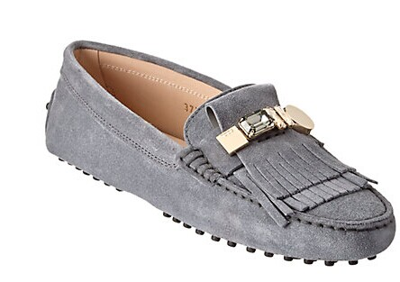 TOD's Gommino Suede Embellished Driving Shoe
