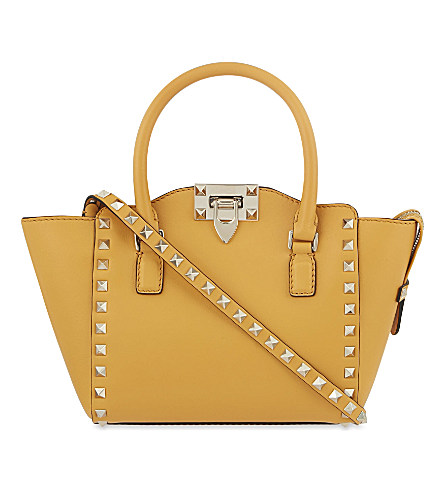 VALENTINO - Rockstud mini structured leather tote