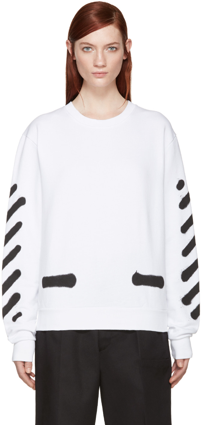 Off-White White Spray Paint Pullover