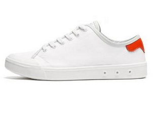 Womens Standard Issue Lace Up - WHITE / RED