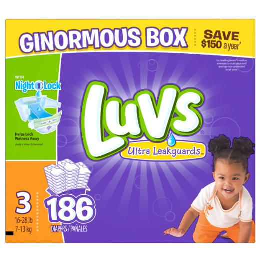 $2 Off + Extra 20% Off Prime Member Only! Luvs Diapers On Sale @ Amazon.com