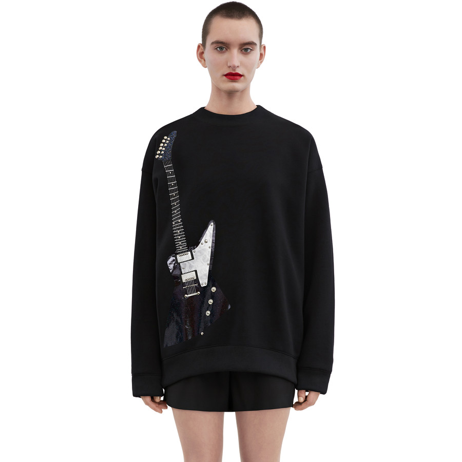 Acne Studios Beta guitar black/blue print Sweatshirts