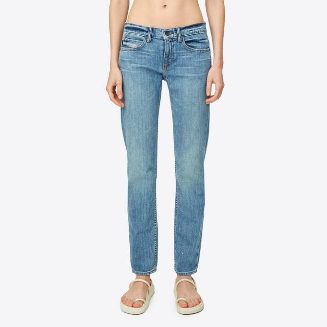 Helmut Lang Light Vintage Relaxed Rolled Jean