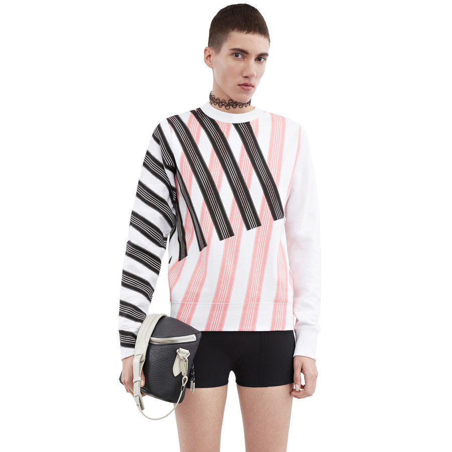 Acne Studios Vernina w str black/pink stripe Sweatshirts