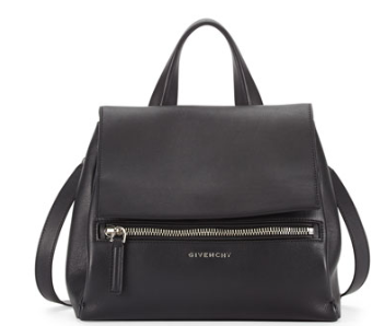 Givenchy Pandora Pure Small Leather Satchel Bag, Black