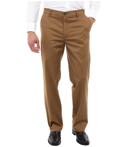 Dockers Men's Signature Khaki D2 Straight Fit Flat Front Sueded/Otter