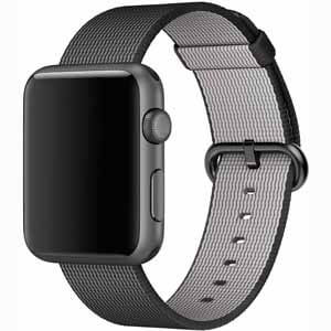 Apple 42mm Sport Watch with Nylon Woven Band - Black