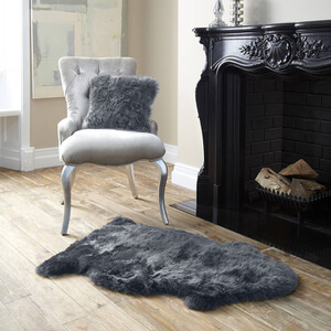 Royal Dream Large Sheepskin Rug - Grey Traditional Gifts | TheHut.com