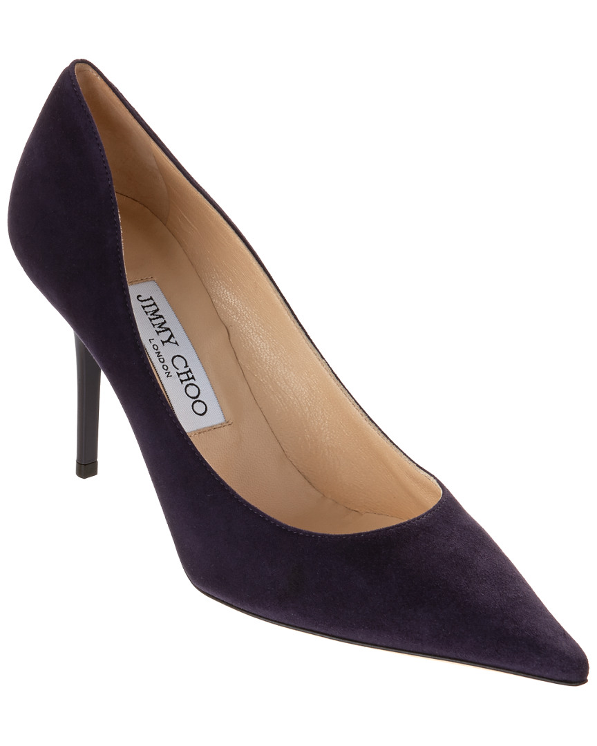 Jimmy Choo Agnes Suede Pointy Toe Pump