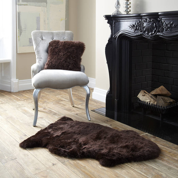 Royal Dream Large Sheepskin Rug - Brown Traditional Gifts | TheHut.com