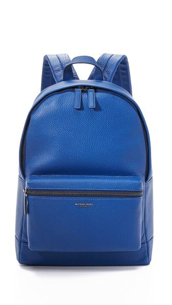 Michael Kors Bryant Pebbled Leather Backpack