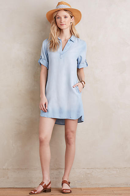 Washed Chambray Popover