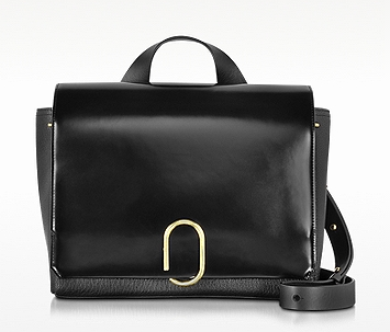 3.1 Phillip Lim Alix Black Leather Messenger Bag at FORZIERI