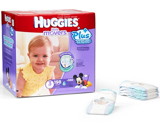 Huggies Little Movers Plus+ 198 Diapers - Size 3