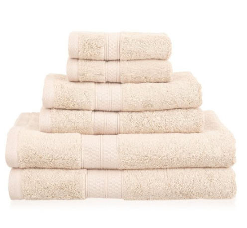 Superior 6 Piece Collection Rayon from Bamboo and Cotton Soft/Absorbent Towels Set, River Blue