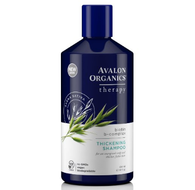 Avalon Organics Biotin B-Complex Thickening Shampoo, 14 Fluid Ounce : Hair Shampoos : Beauty