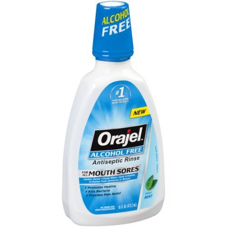 Orajel Fresh Mint Alcohol Free Antiseptic Rinse