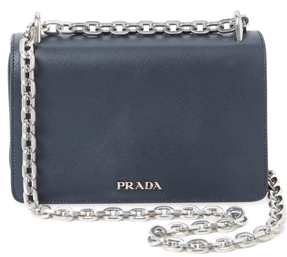 Prada Small Leather Chain Shoulder Bag