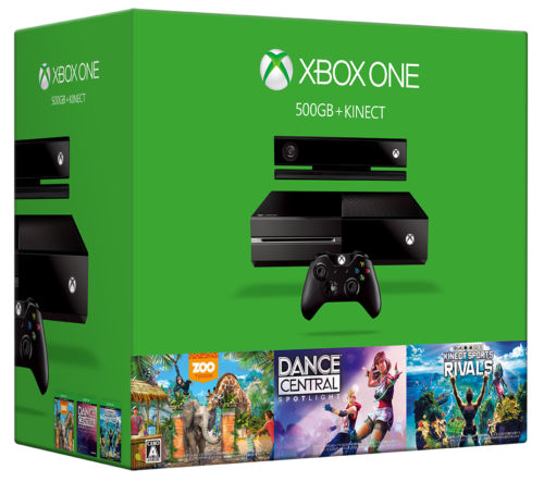 Xbox One 500GB Kinect Bundle with Dance Central Sports Rivals Zoo Tycoon