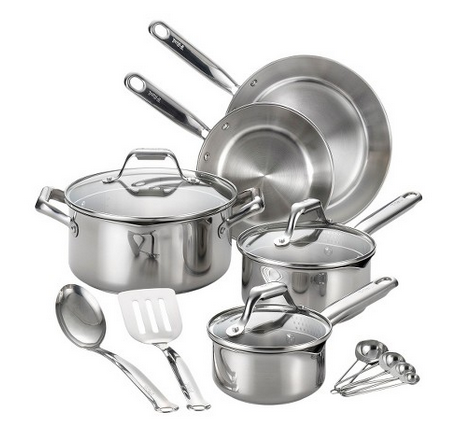 T-fal 14pc Stainless Steel Cook Set