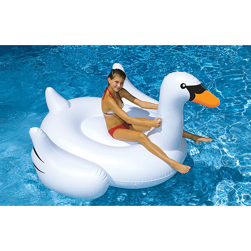 Giant Swan Inflatable Pool Toy - Walmart.com