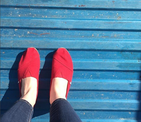 TOMS Seasonal Classics Red Suede/Rope