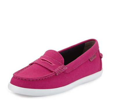 Cole Haan Nantucket Canvas Loafer, Fuchsia Red