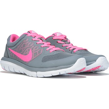 Nike Flex 2015 RN Running Shoe Grey/ Pink Pow