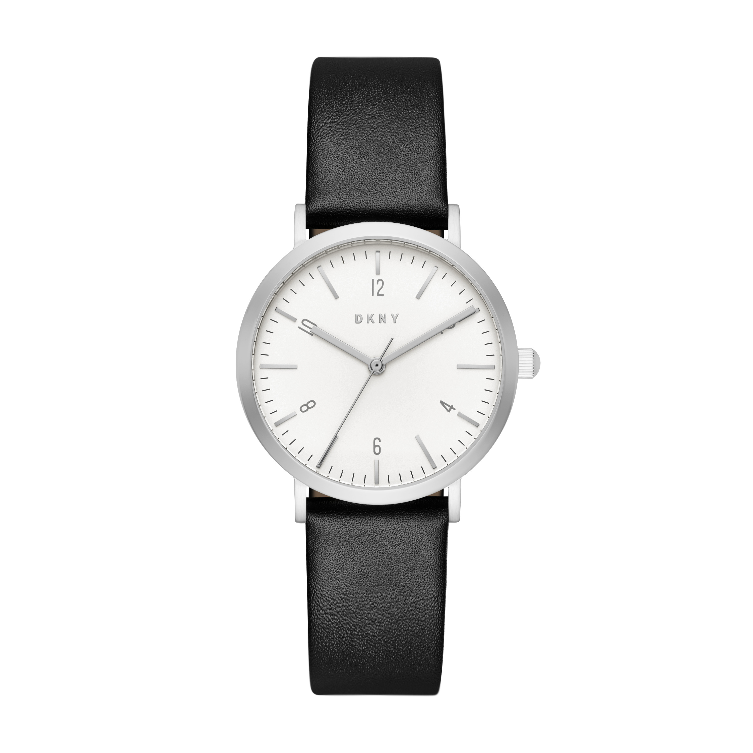 Minetta Black Leather With Stainless Steel Watch - DKNY