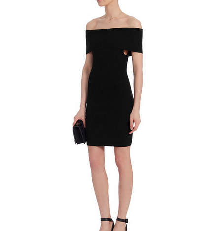 A.L.C. Mercier Ribbed Off The Shoulder Dress