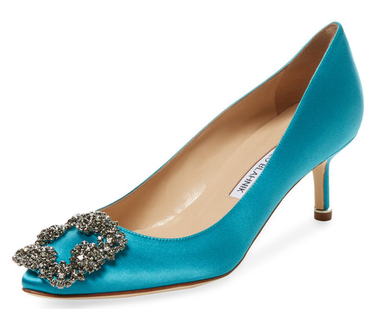 Hangisido Satin Pump by Manolo Blahnik