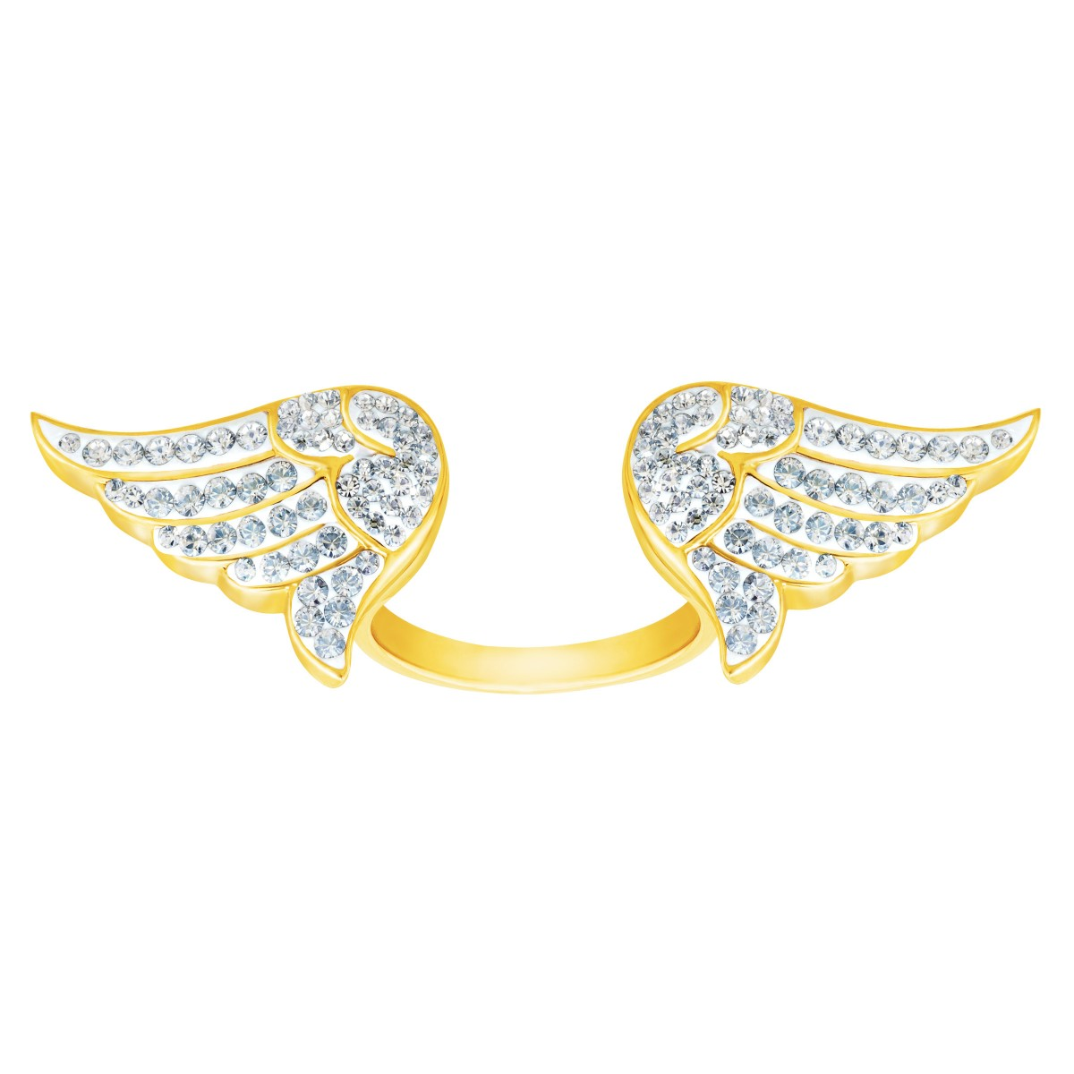 Angel Wings Ring with Swarovski Crystals