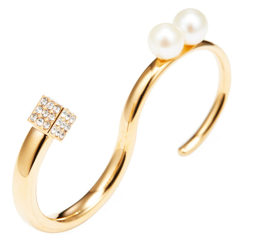 Cubo Duo Pearl Ring by Vita Fede