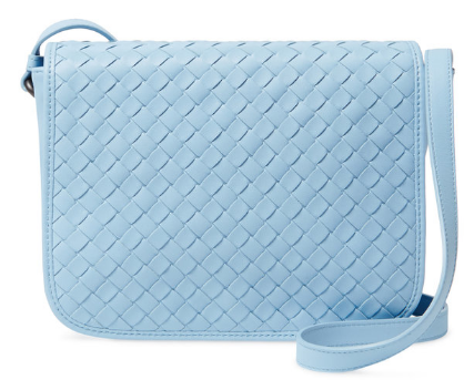 Intrecciato Small Woven Leather Crossbody by Bottega Veneta