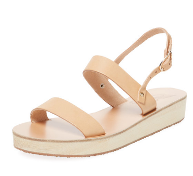 Clio Leather Platform Sandal by Ancient Greek Sandals
