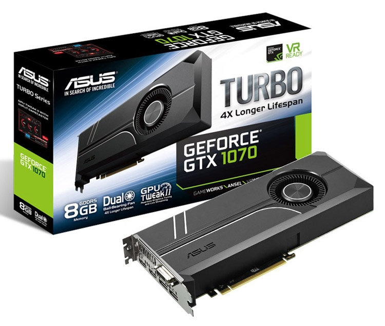 ASUS GeForce GTX 1070 TURBO-GTX1070-8G 8GB 256-Bit GDDR5