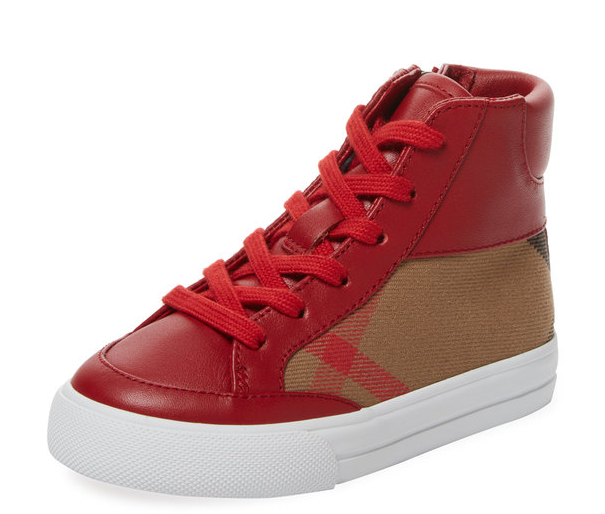Lace & Zip Hi Top by Burberry