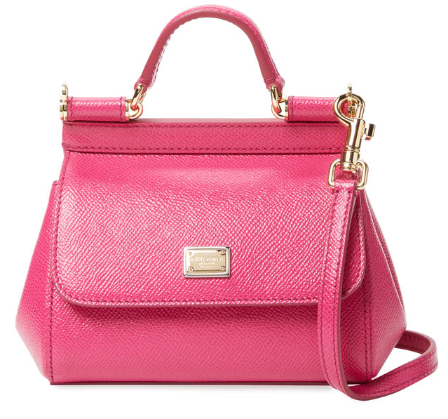 Sicily Mini Leather Satchel by Dolce & Gabbana
