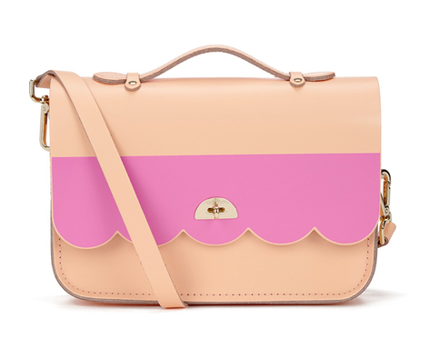 The Cambridge Satchel Company Women's Cloud Bag with Handle - Stripe Peony Peach/Pink Stripe