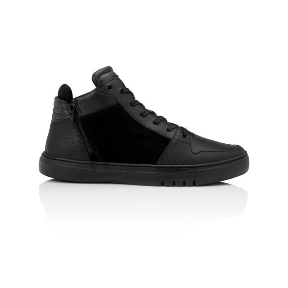 Men's Black Leather Sneaker, Creative Recreation Adonis Mid