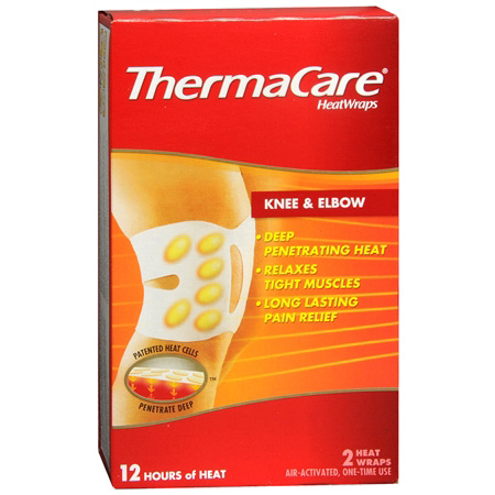 ThermaCare 12 Hours Heat Wraps Knee & Elbow