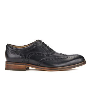 H Shoes by Hudson Men's Keating Leather Brogue Shoes - Black - FREE UK Delivery