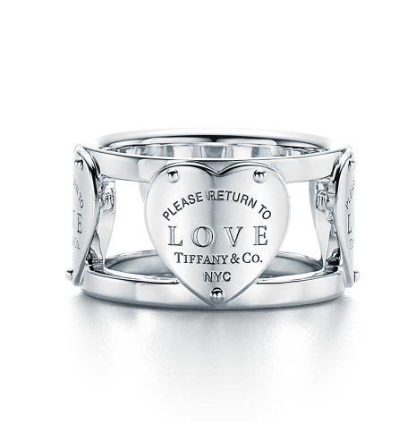 Return to Tiffany® Love wide ring in sterling silver. | Tiffany & Co.