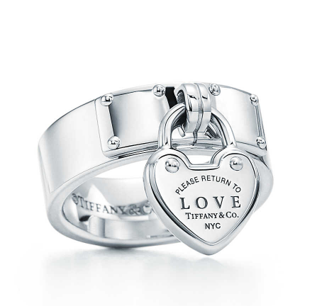 Return to Tiffany® Love lock ring in sterling silver. | Tiffany & Co.
